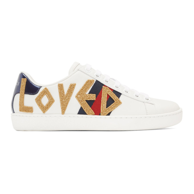 Gucci White Loved Ace Sneakers 191451f12800310
