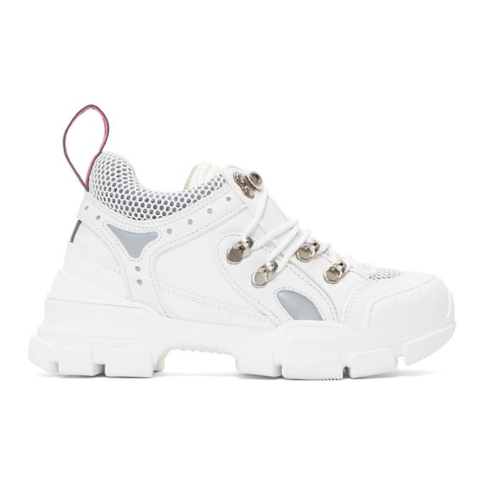 Gucci White Flashtrek Chunky Sneakers