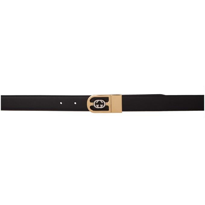 8ff08a11e Gucci Reversible Black Interlocking Double G Belt