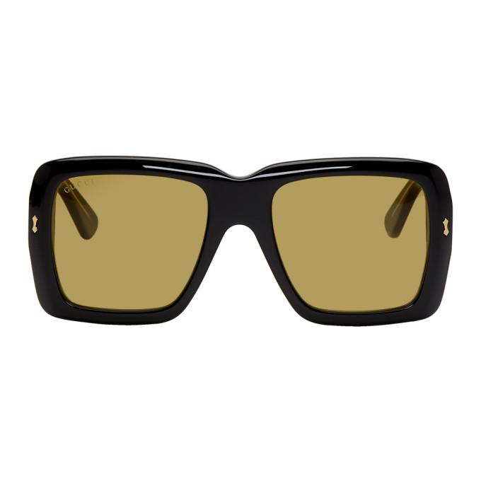 Gucci Black & Yellow Bold Sunglasses