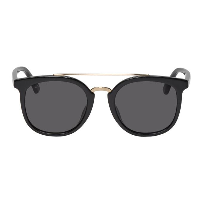 Gucci Black Round Combination Sunglasses