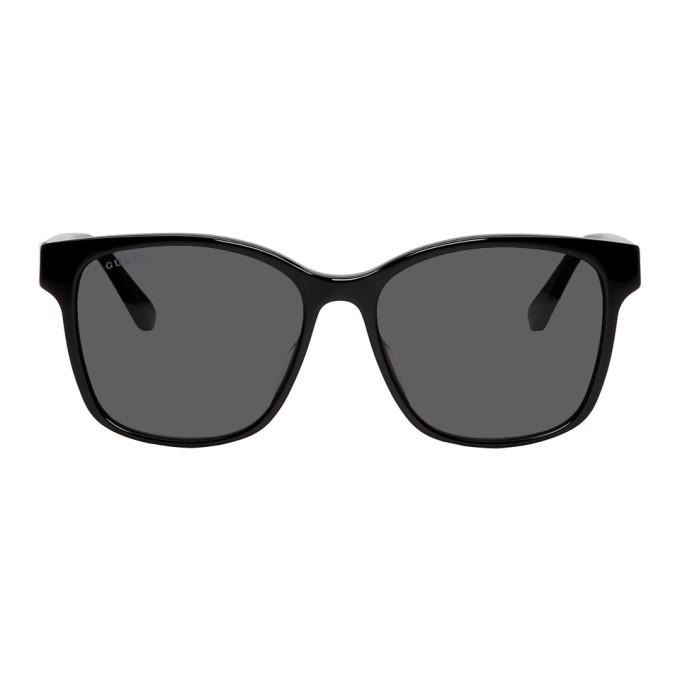 Gucci Black Striped Sunglasses
