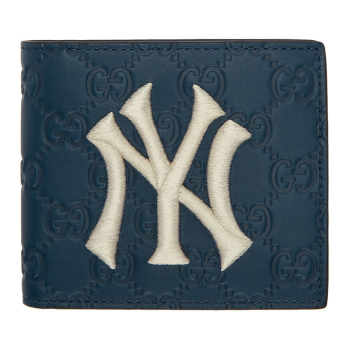 e0e45c396fe2 Gucci Wallet With Ny Yankees&Trade; Patch In Blue | ModeSens