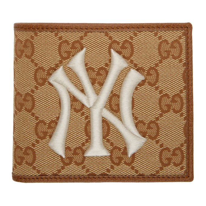 1f75d62ee1da Gucci Beige Brown NY Yankees Edition GG Patch Wallet
