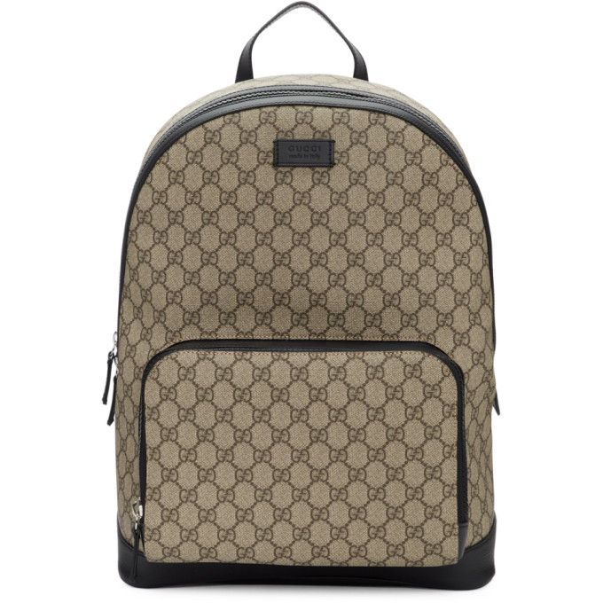 Gucci Beige GG Supreme Backpack