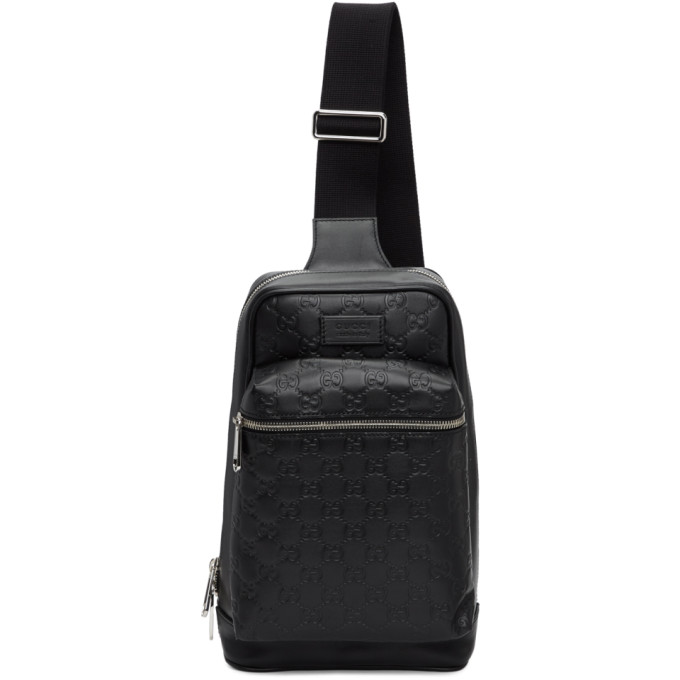 eTOUNES   Fendi Black Bag Bugs Single Strap Backpack 36b37162100d2