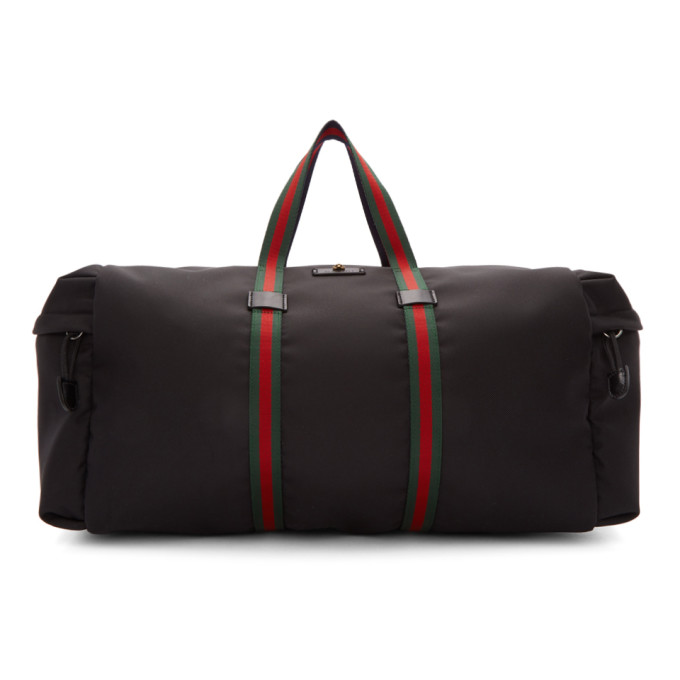 a243d04b0d74e8 Gucci Black Technical Duffle Bag