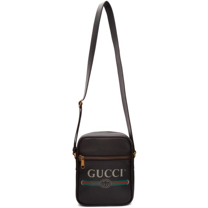 04fe29892 Gucci Black Vintage Logo Messenger Bag In 8163 Black | ModeSens