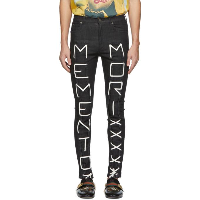 Gucci Black 'memento Mori' Skinny Jeans