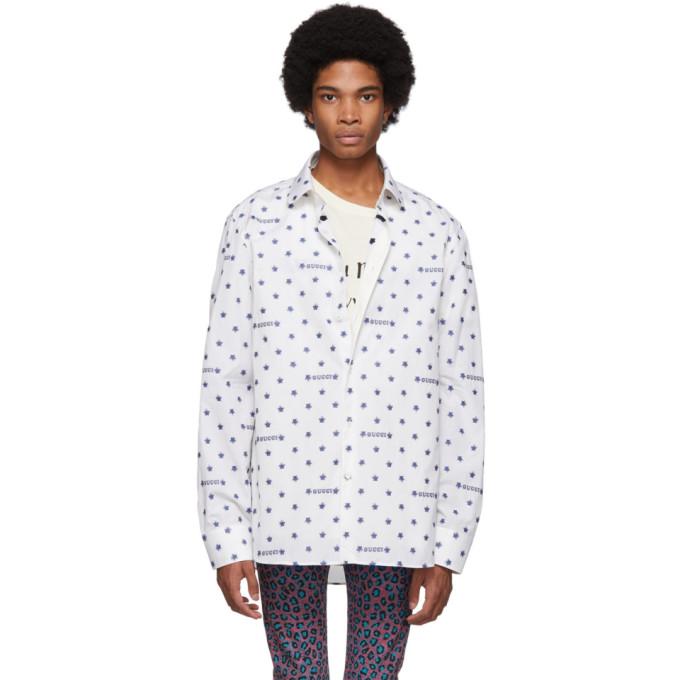 Gucci オフホワイト スター フィルクーペ シャツ
