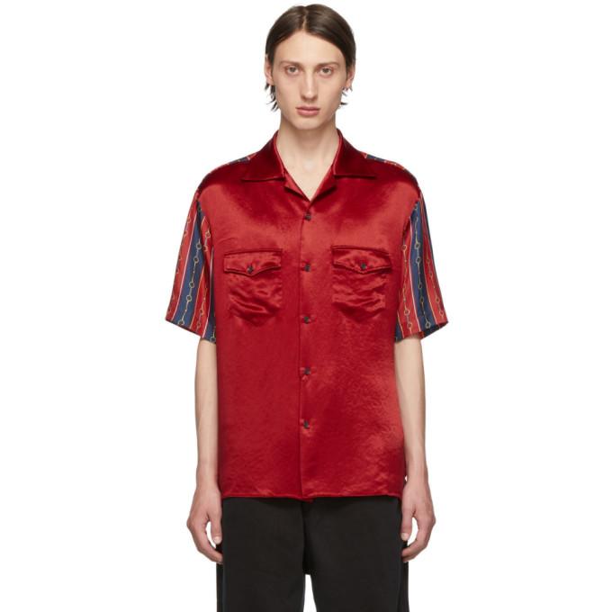 Gucci Chemise de bowling rouge