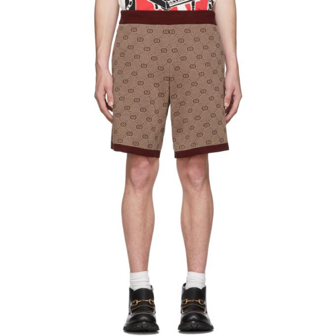 Gucci Burgundy Knit GG Shorts