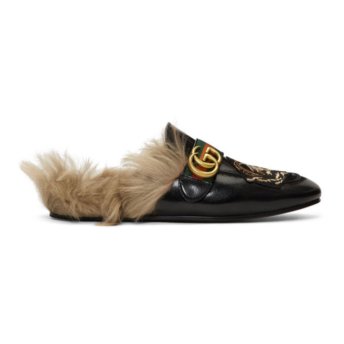 Gucci Flaneurs noirs Angry Cat New Princetown