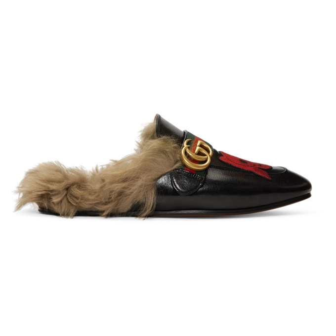 Gucci Flaneurs noirs Skull New Princetown