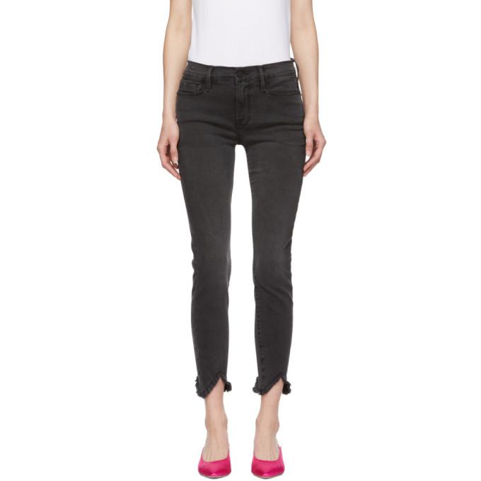 31519cad8360 Frame Le Skinny De Jeanne Triangle Hem Crop Skinny Jeans In Tull ...