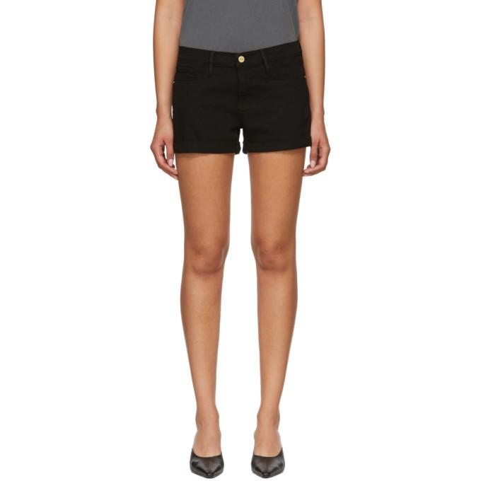 Le Cutoff Denim Shorts in Black