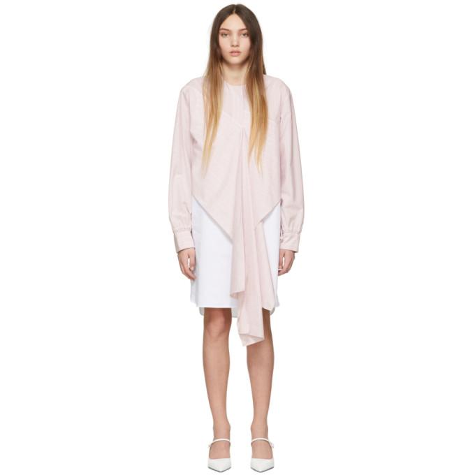 Image of Cédric Charlier Pink & White Stripe Dress