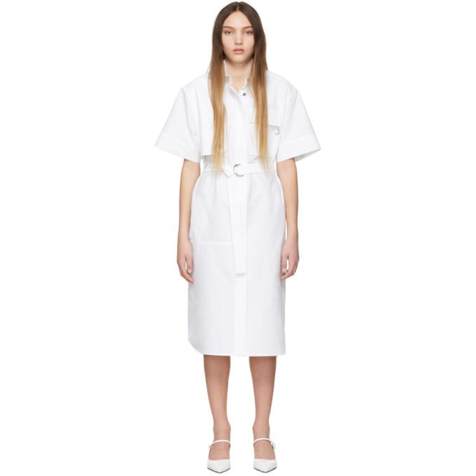 Image of Cédric Charlier White Cotton Dress