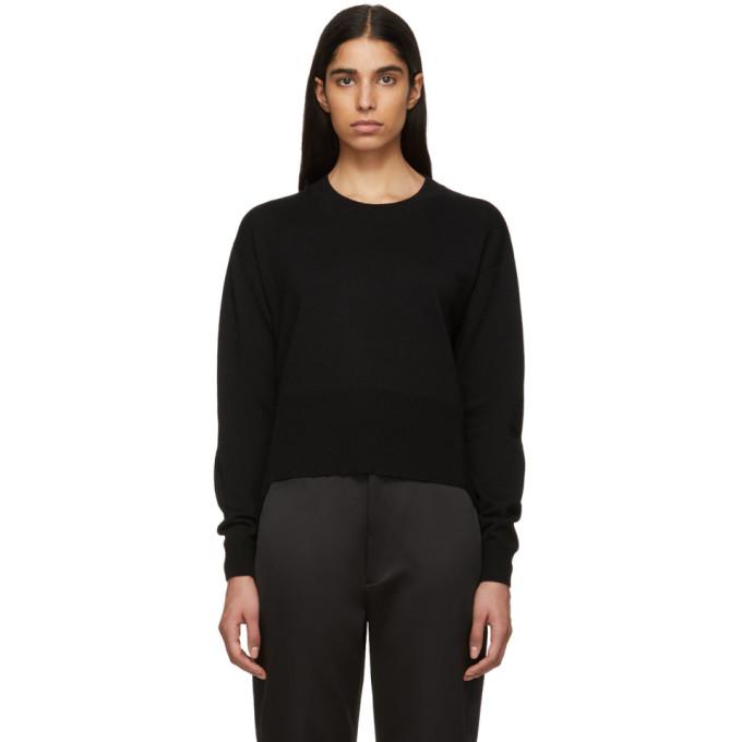 Image of Cédric Charlier Black Asymmetric Sweater