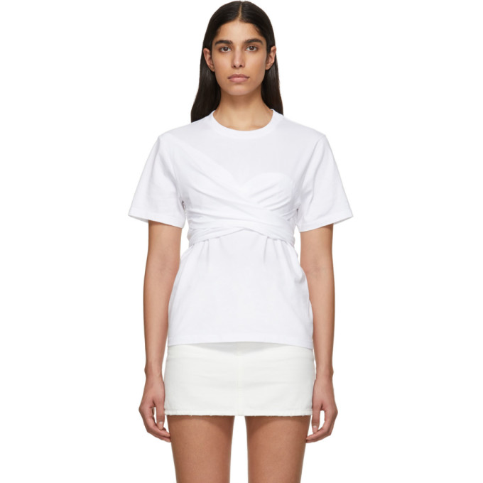 Cedric Charlier T-shirt blanc Wrapped