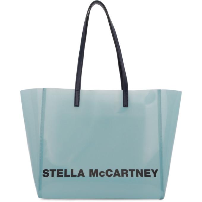 Stella McCartney Blue Small Clear Tote