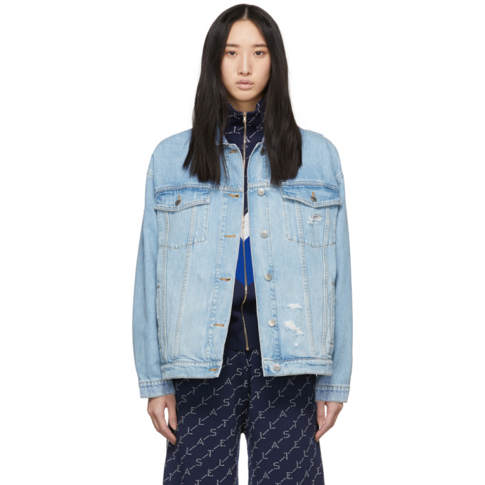 STELLA MCCARTNEY | Stella McCartney Blue Denim Organic Jacket | Goxip