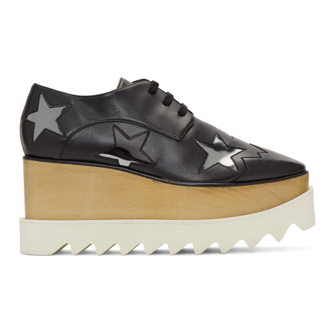 Stella McCartney Black Elyse Stars Derbys