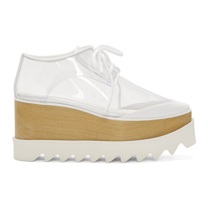 Stella McCartney Transparent and White Elyse Derbys