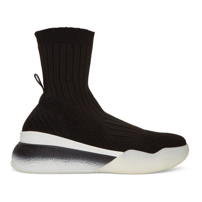 Stella McCartney Black Loop Sock Sneakers