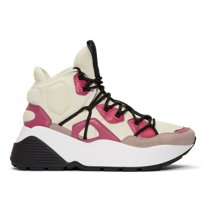 Stella McCartney Pink High-Top Sneakers