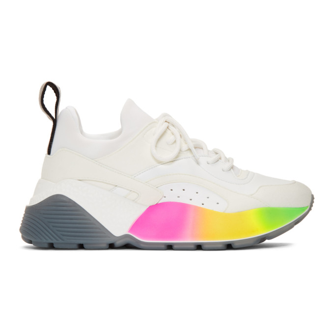 Stella McCartney White Rainbow Eclypse Sneakers
