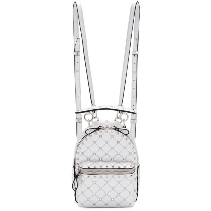 Valentino Silver Valentino Garavani Mini Rockstud Spike Backpack