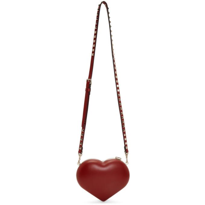 Valentino Red Valentino Garavani Rockstud Carry Secrets Heart Minaudiere Bag