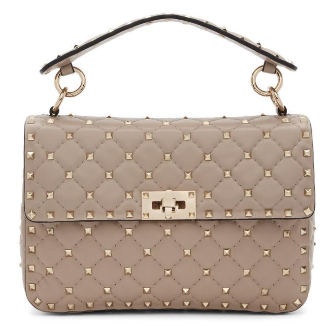Valentino Pink Valentino Garavani Medium Rockstud Spike Bag