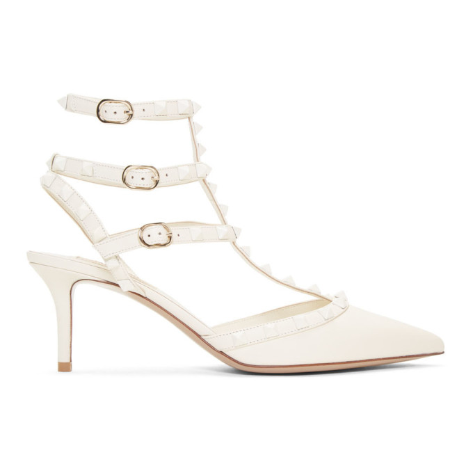 Valentino Off-White Valentino Garavani Rockstud Pump Heels