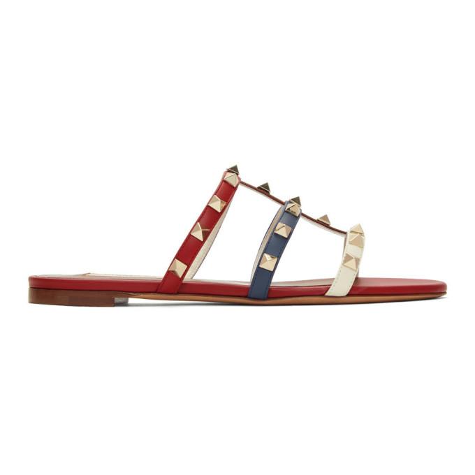 Valentino Multicolor Valentino Garavani Rockstud Slides