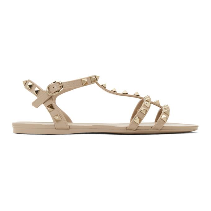 Valentino Pink Valentino Garavani Rockstud Summer Cage Sandals