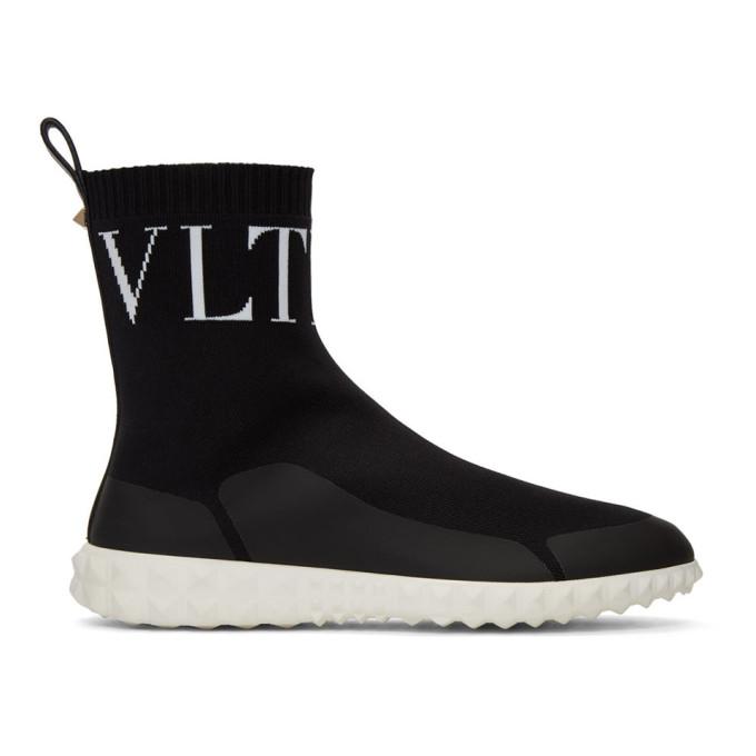 Valentino Black Valentino Garavani 'VLTN' Sock Sneakers