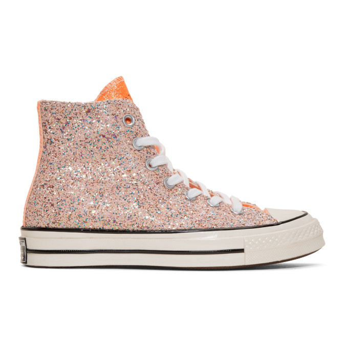 JW Anderson Baskets roses Glitter Chuck 70 High-Top edition Converse