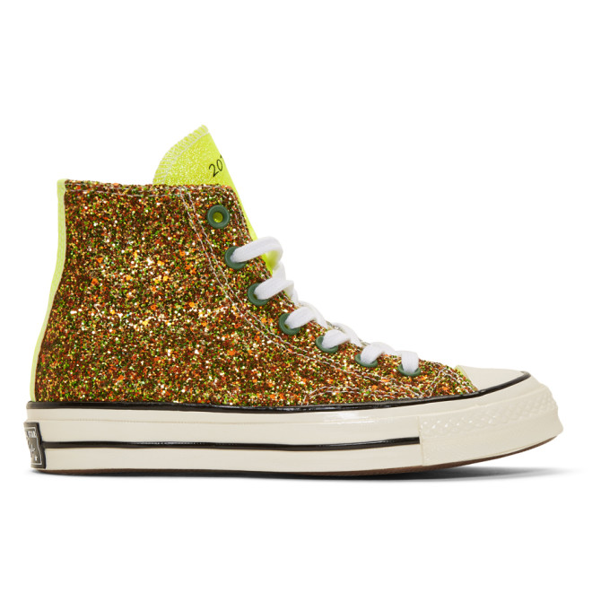 JW Anderson Baskets vertes Glitter Chuck 70 High-Top edition Converse