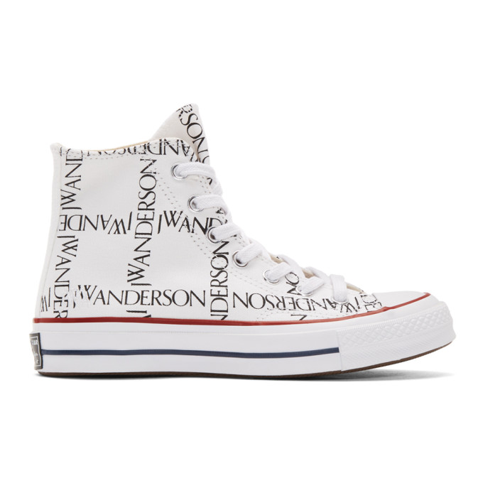 59a6b1a154a78b Converse Jw Anderson 1970S Chuck Taylor All Star Logo-Printed Canvas High-Top  Sneakers