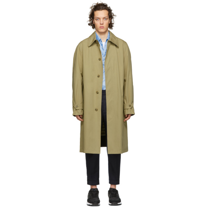 Image of AMI Alexandre Mattiussi Beige Mac Trench Coat