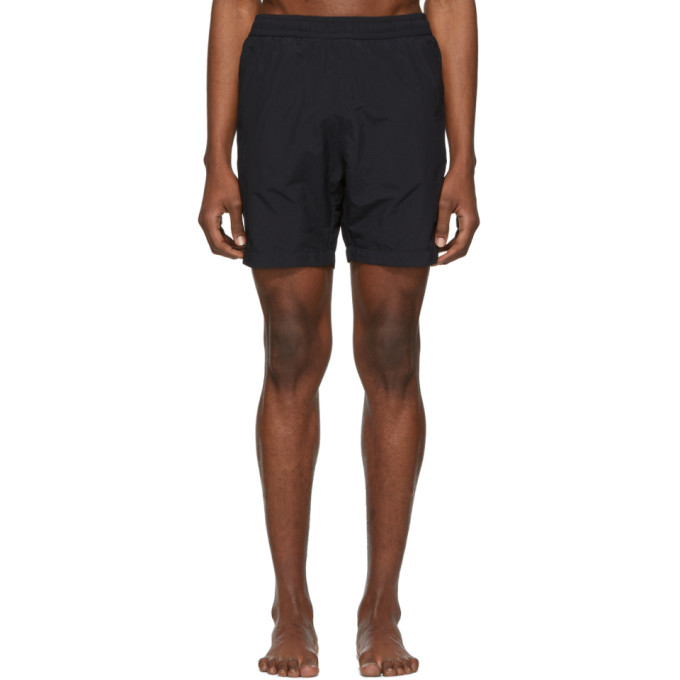 Image of AMI Alexandre Mattiussi Black Ami De Coeur Long Swim Shorts