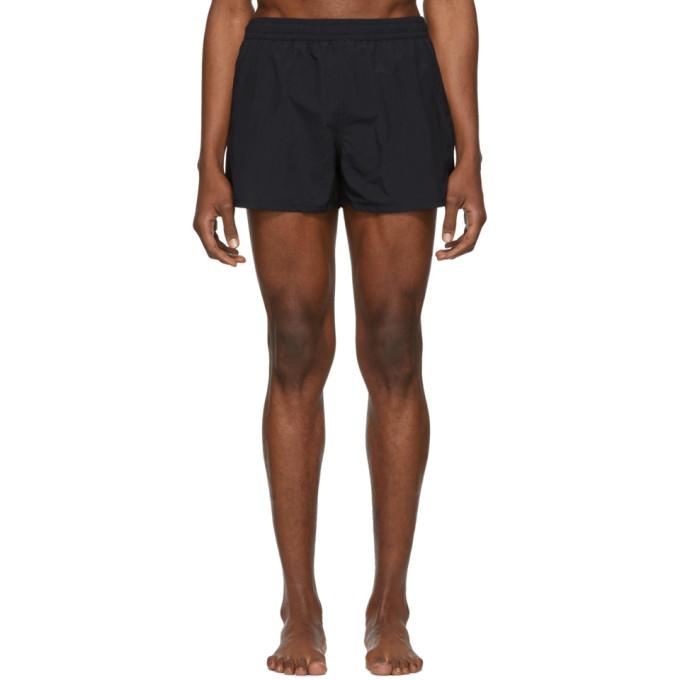 Image of AMI Alexandre Mattiussi Black Ami De Coeur Swim Shorts