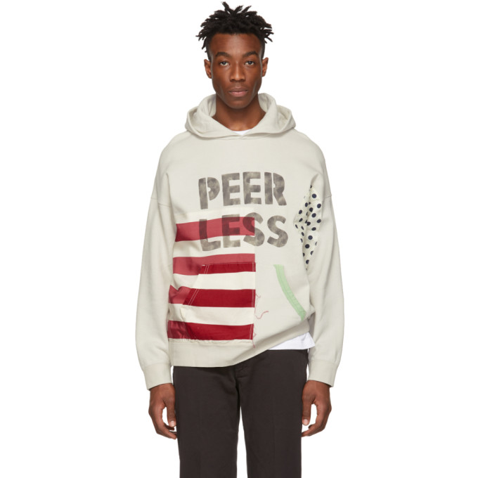 Visvim Off-White Jumbo P.O. Collage Hoodie