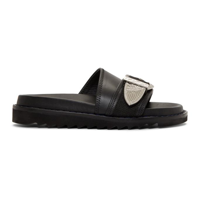 Toga Pulla Black Buckle Sandal