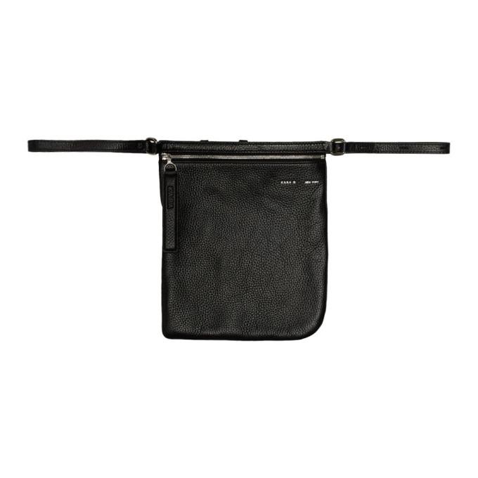 KARA Kara Black Leather Waist Bag