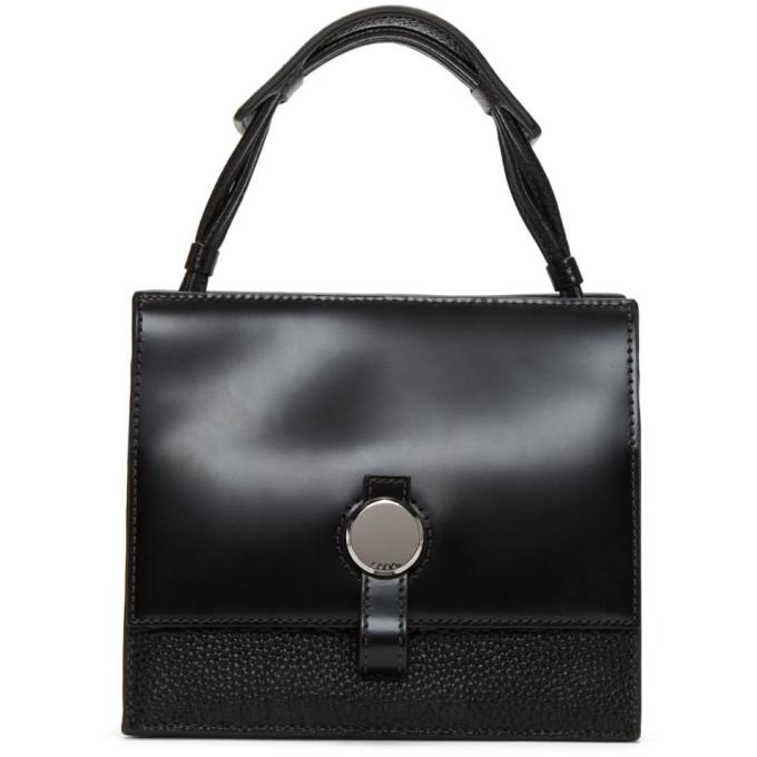 KARA Kara Black Baby Moon Crossbody Bag