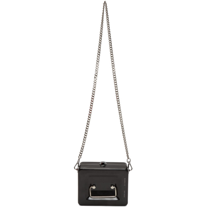 KARA Kara Black Lock Box Bag