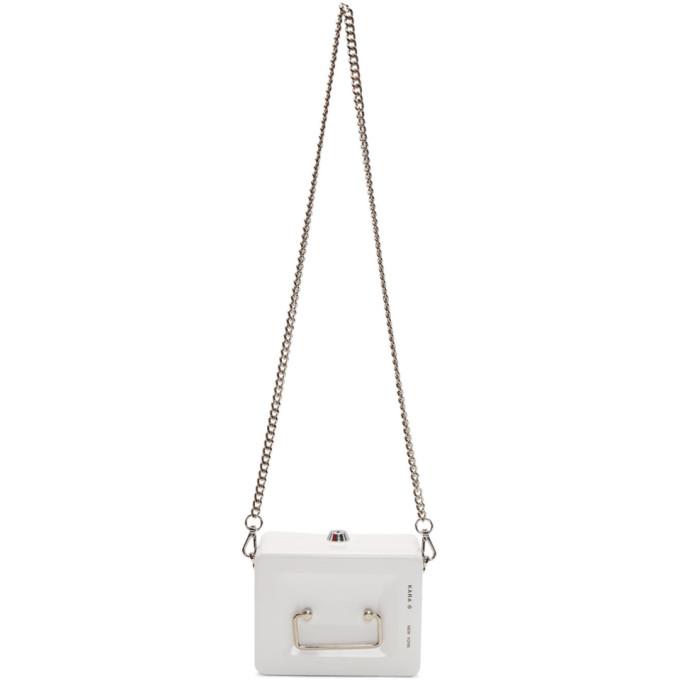KARA Kara White Lock Box Bag